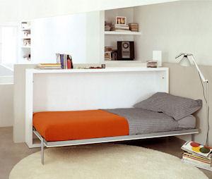 Poppi desk 90 120 di clei arredamenti trasformabili il divano fiore arredamenti torino - Mobili trasformabili letto ...