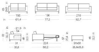 James di milano bedding divani letto trasformabili il divano fiore arredamenti torino - Divano al dimensioni ...